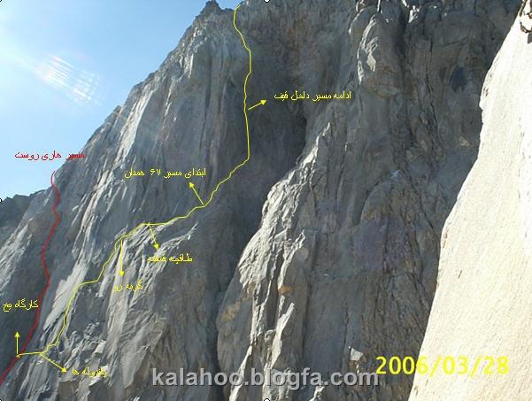 دیواره علم کوه - مسیر فرانسه