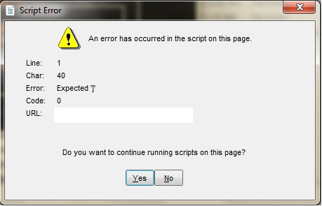 حذف سوال یا ارور ورود به یک سایت به اسم script error