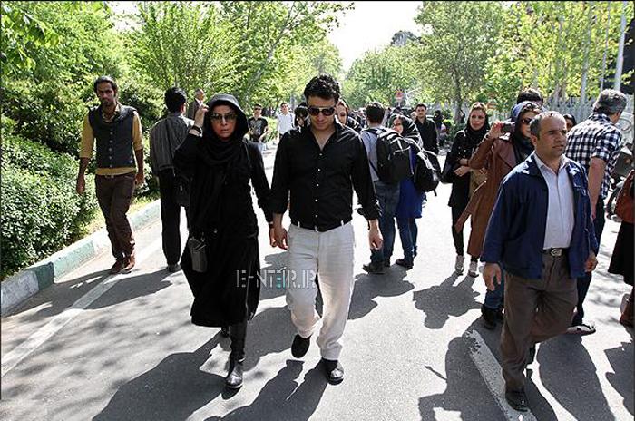 عکس جدید جواد عزتی و همسرش مه لقا باقری