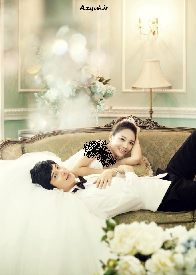 ژست عکس عروس و داماد فیسبوک