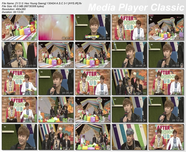 130424 A S C 3 1 HYS IR  [Video] Heo Young Saeng   Guest at Arirang TV After School Club [13.04.24]