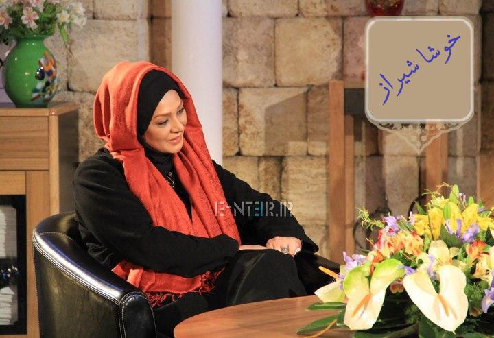 نسرین مقانلو در پشت صحنه برنامه خوشا شیراز