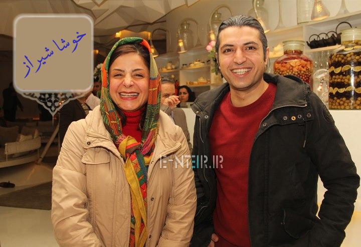 عکس جدید سیما تیرانداز و اشکان خطیبی در پشت صحنه برنامه خوشا شیراز