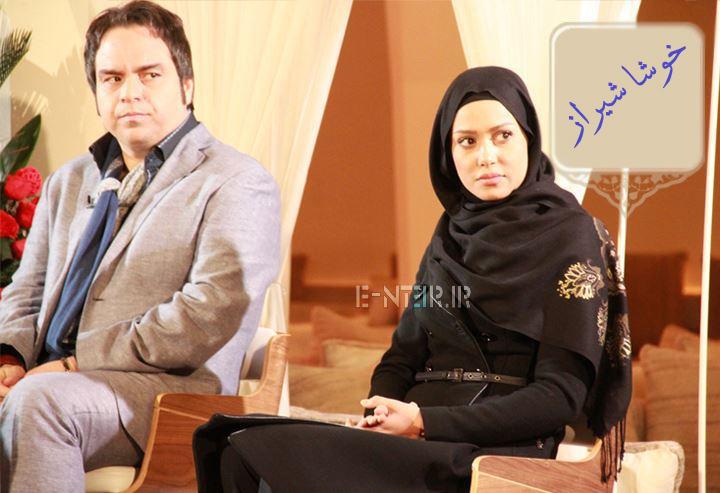 پریناز ایزدیار در پشت صحنه برنامه خوشا شیراز