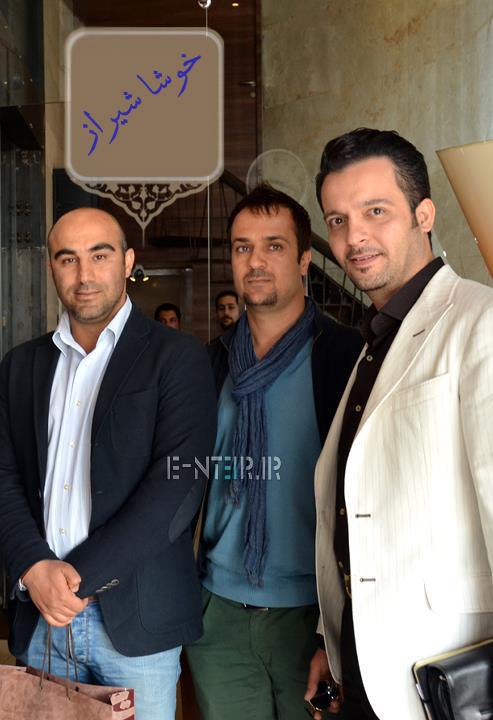 محسن طنابنده و احمد مهران فر در پشت صحنه برنامه خوشا شیراز