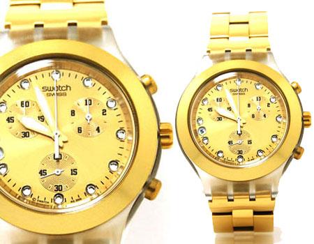 ساعت مردانه سواچ طلایی