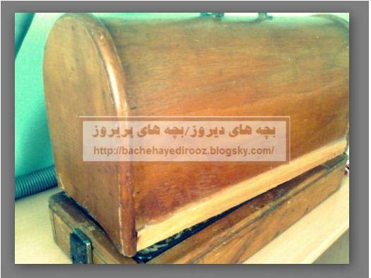 -جعبه چرخ خیاطی قدیمی