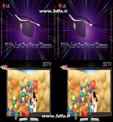 lg cinema 3d tv LED ساید بای ساید