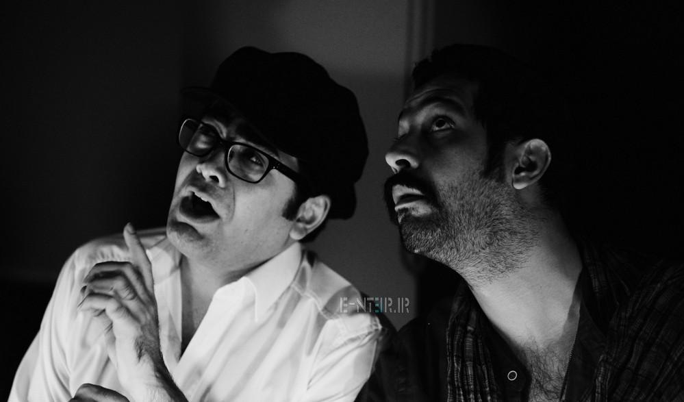 عکس های کامران تفتی و فرزاد حسنی در نمایشنامه خوانی سفر به نهایت دور