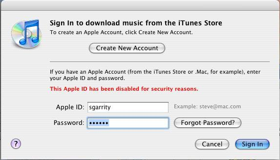 حل مشکل This Apple ID has been disabled for security reasons
