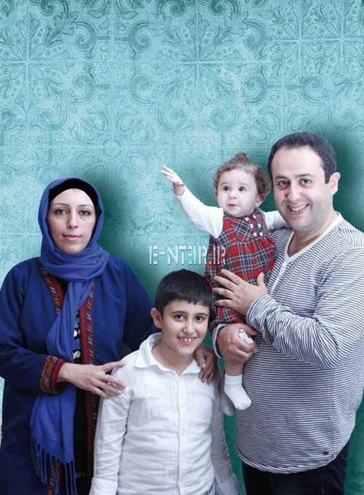 عکس جدید ابراهیم شفیعی و همسرش و فرزندانش