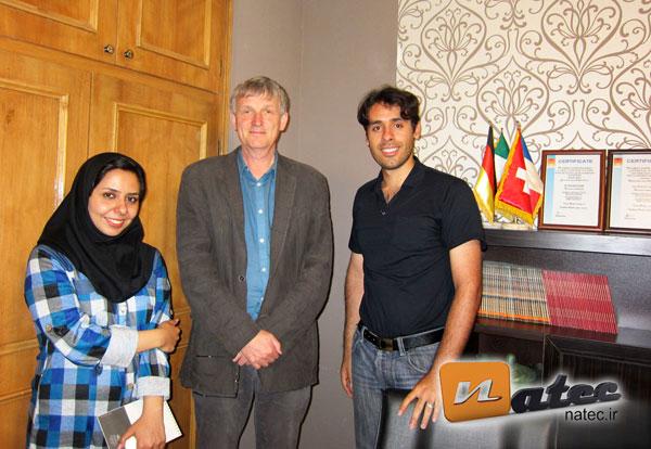 از راست به چپ : مهندس فاطمی ، پروفسور گروتر ، مهندس شهریاری