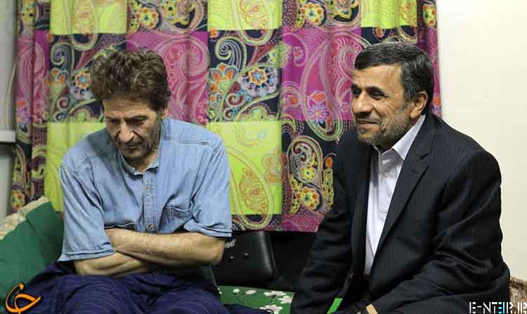عیادت سر زده احمدی نژاد از ابوالفضل پور عرب