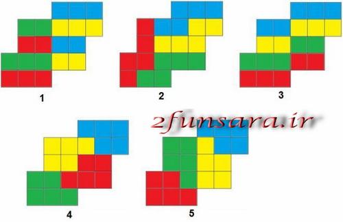 حل معمای تفکیک شکل - 2funsara