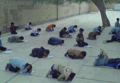 امتحانات حیاط مدرسه های قدیمی