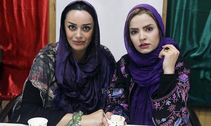 عکس جدید سپیده خداوردی و الهام چرخنده در نشست خبری سریال پروانه
