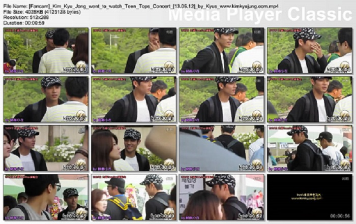 thumbs20130514200621 Fancam Kim Kyu Jongto watch Teen Tops Concert [13.05.12]by Kyus
