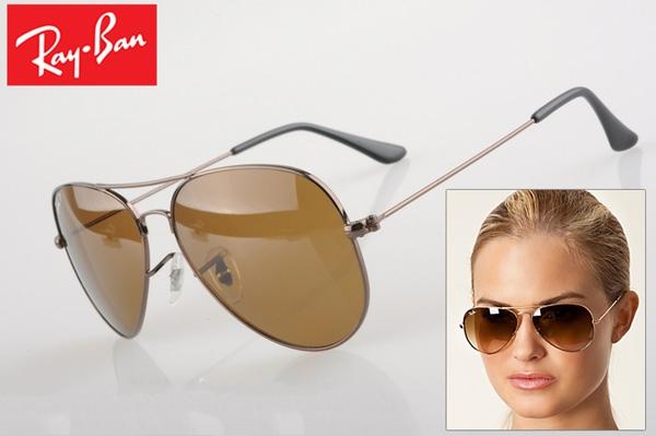 خرید عینک آفتابی ریبن 3025 فریم قهوه ای