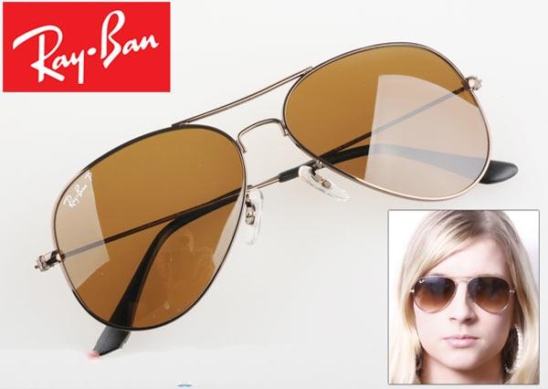 عینک آفتابی ریبن 3025 فریم قهوه ای اصل