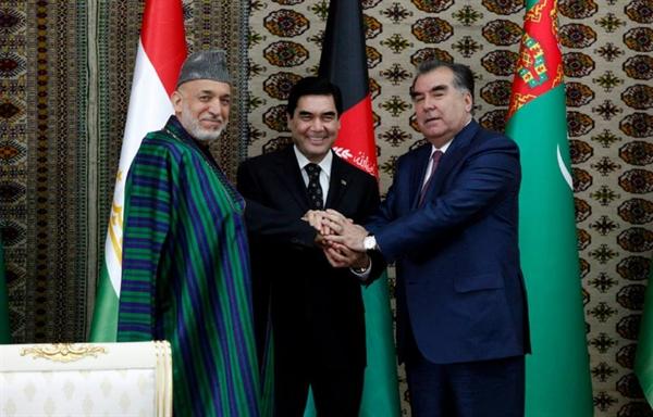 خط آهن، افغانستان، تاجیکستان، ترکمنستان، راه آهن، افتتاح، کرزی،