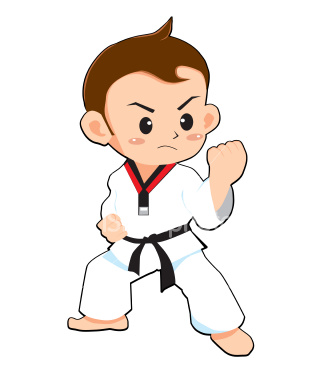 Clip Art of Karate k3198248  Search Clipart Illustration