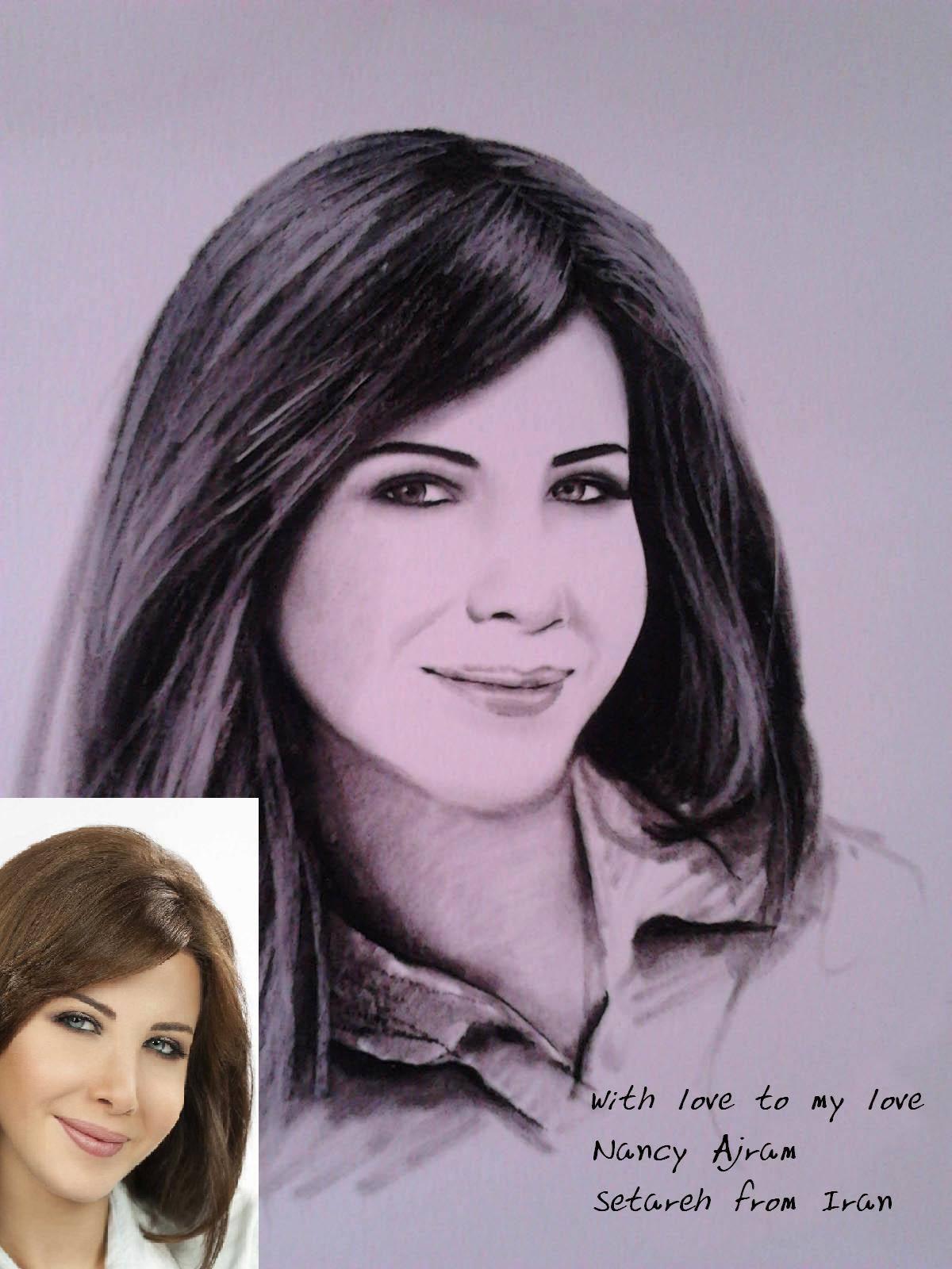 نقاشی بسیار زیبا از نانسی عجرم Nancy Ajram