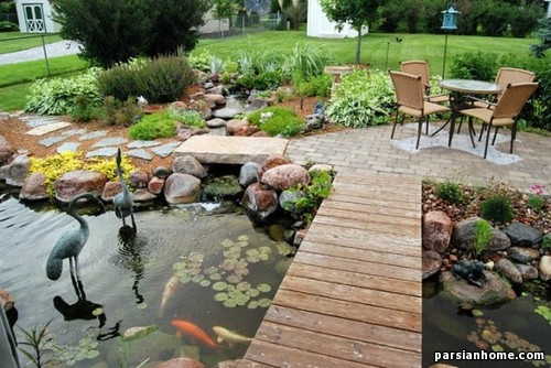 مدل برکه و آبگیر فضای سبز