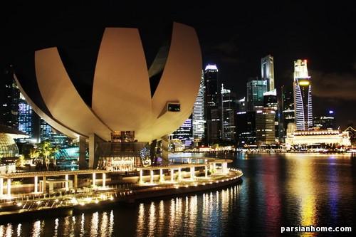 نمای خارجی موزه ای در سنگاپور
