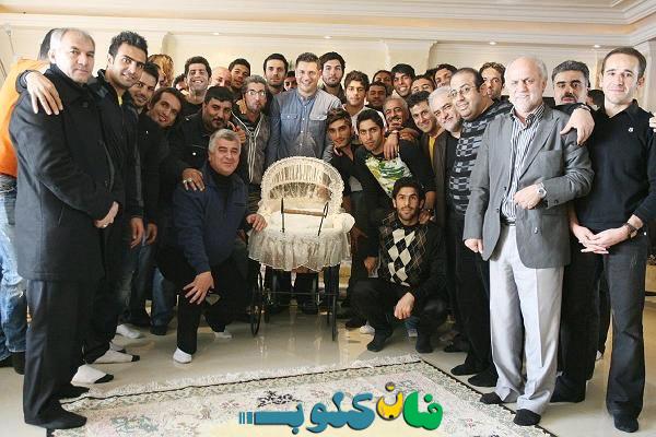 عکس بازیکنان پرسپولیس در خانه دایی