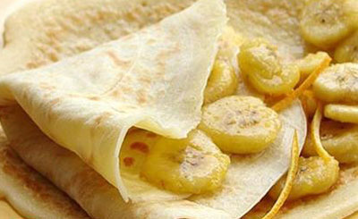 پنکیک موز و لیمو, پخت پنکیک