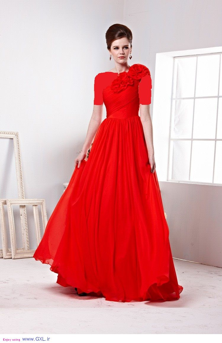لباس مجلسی قرمز مشکی - مد ایرانی