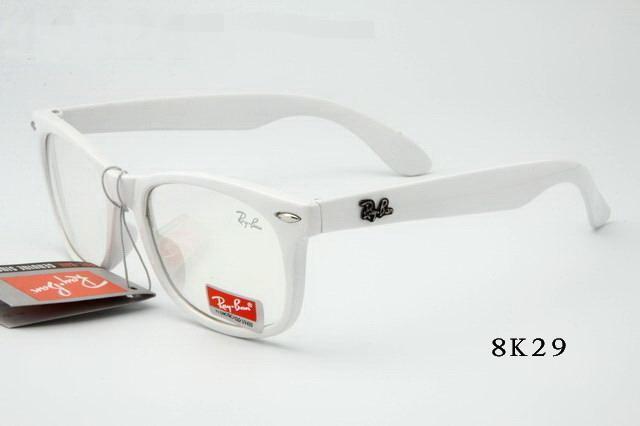 خرید عینک ریبن رنگی شفاف فریم سفید