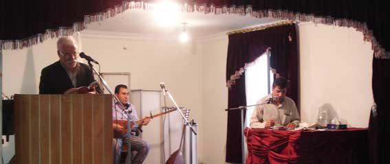 دکتر حسین محمدزاده صدیق در انجمن ادبی خداآفرین