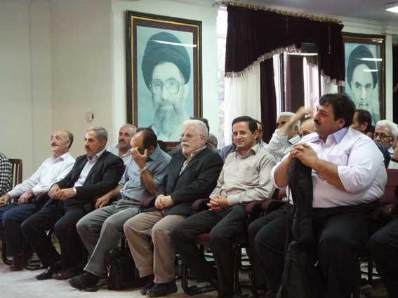 دکتر حسین محمدزاده صدیق در انجمن ادبی خداآفرین در تهران