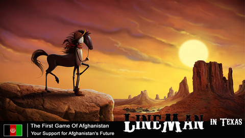 اولین بازی کامپیوتری افغانی، بازی مرد خطی در تگزاس، نسخه آیفون، نسخه آیپد،