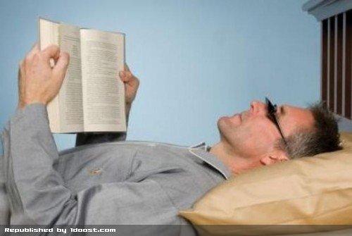 عینک خاص برای مطالعه در حالت دراز کش و خوابیده