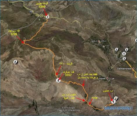 مسیر قله سی چال