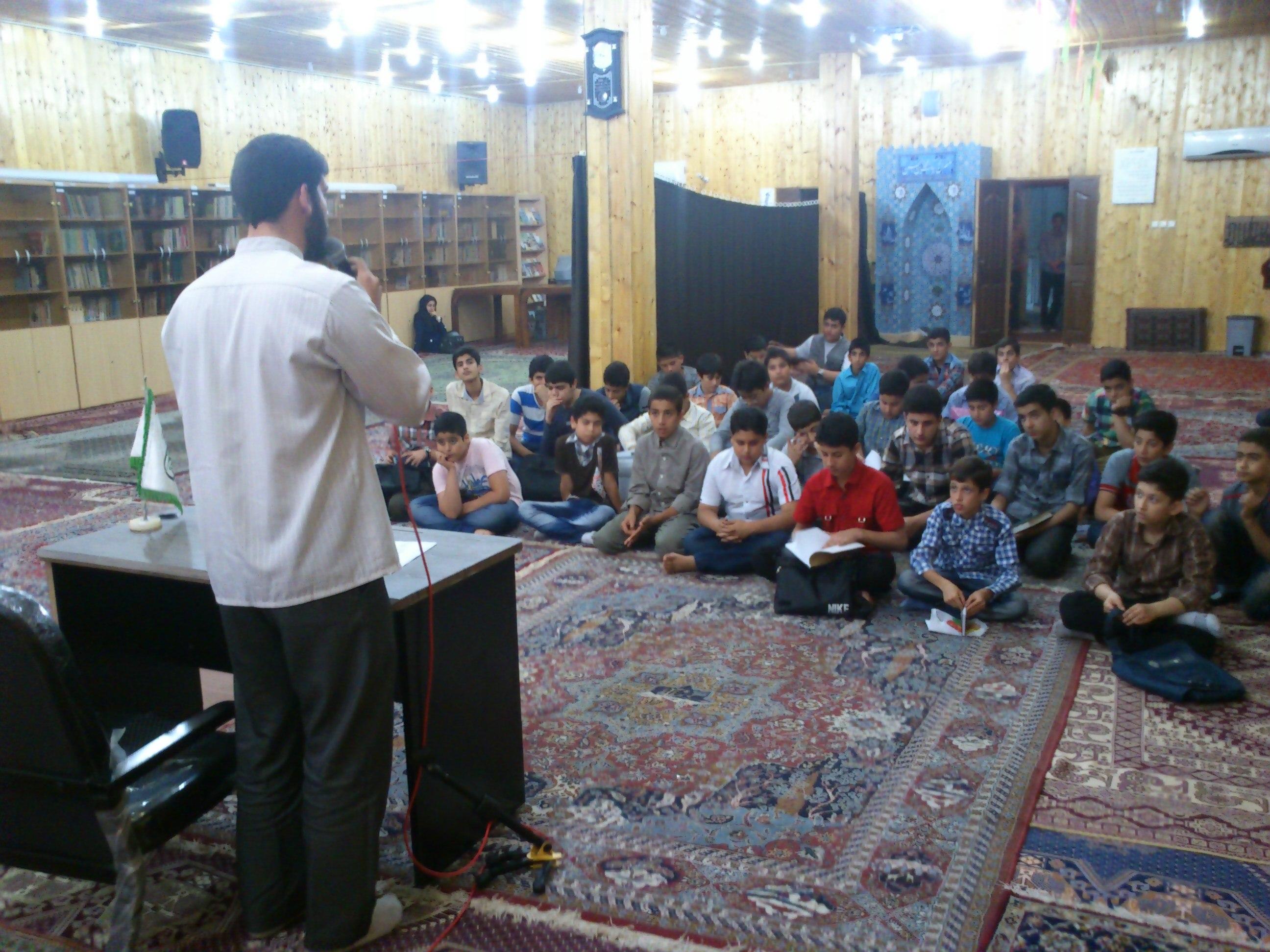 افتتاحیه کلاس های تابستانی پایگاه-صحبت های آقا مجتبی آزوش