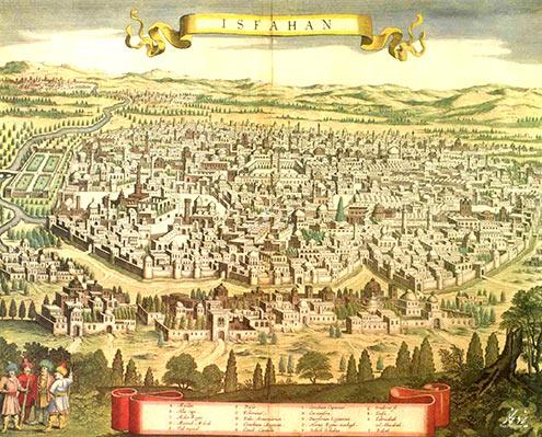 نقشه قدیمی اصفهان