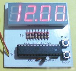 ساعت دیجیتالی دقیق با سون سگمنت +PCB