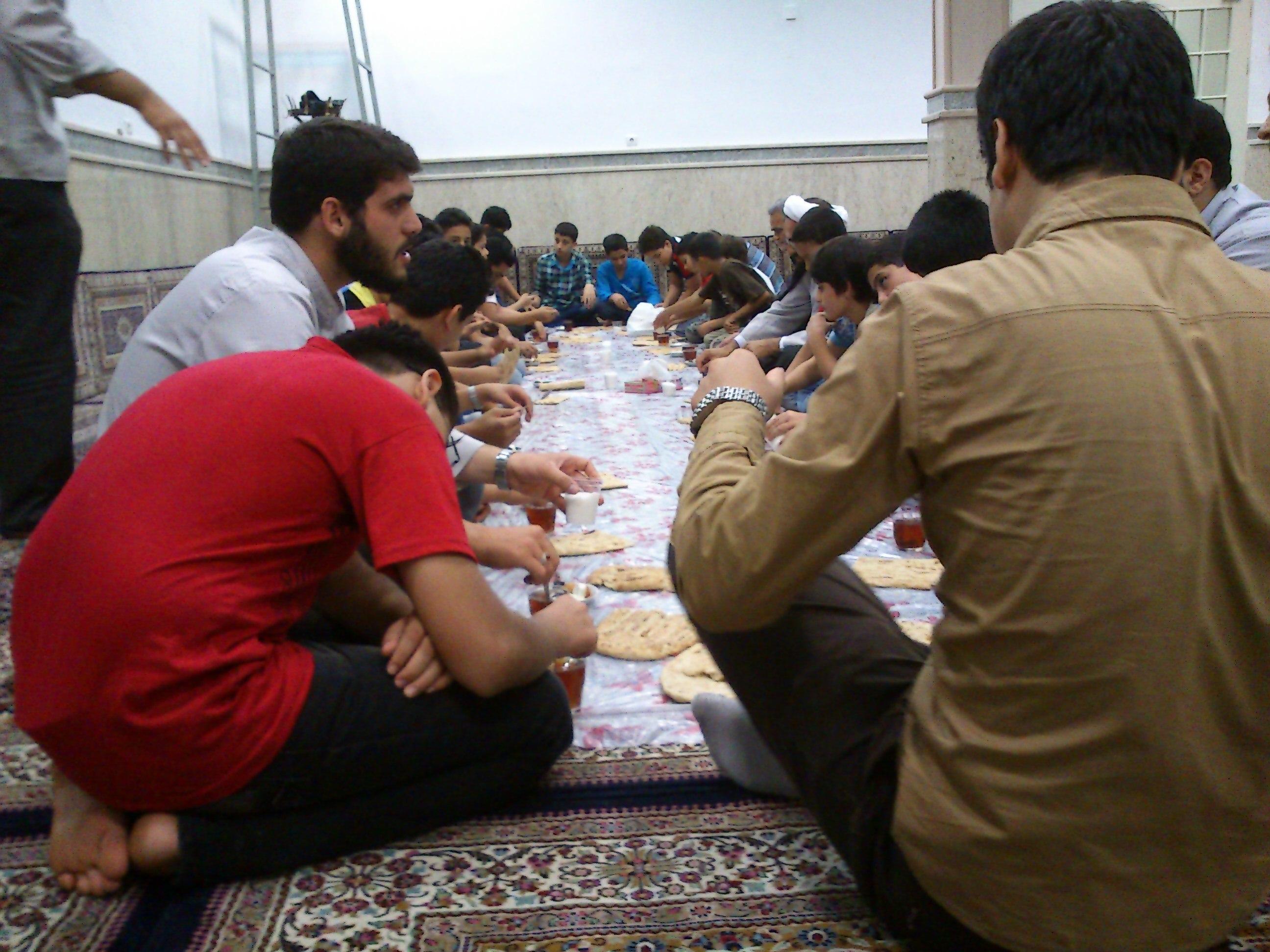 مراسم افطاری