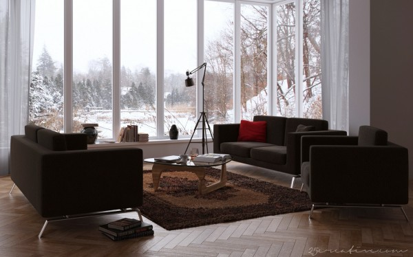 نمونه هایی از طراحی اتاق نشیمن