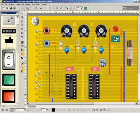 نرم افزار Lochmaster 4 از سری نرم افزارهای مهندسی برق الکترونیک