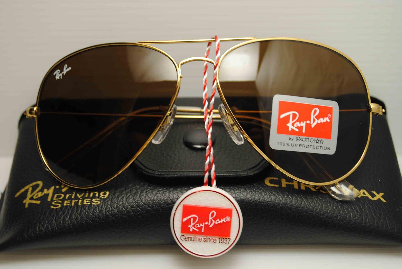خرید عینک آفتابی زنانه ریبن طلایی