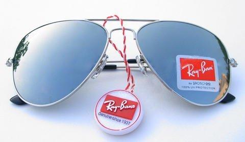 خرید عینک آفتابی زنانه ریبن نقره ای