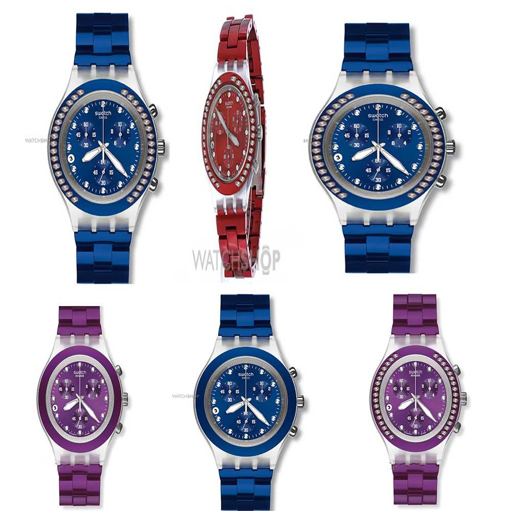 خرید ساعت مچی زنانه سواچ رنگی
