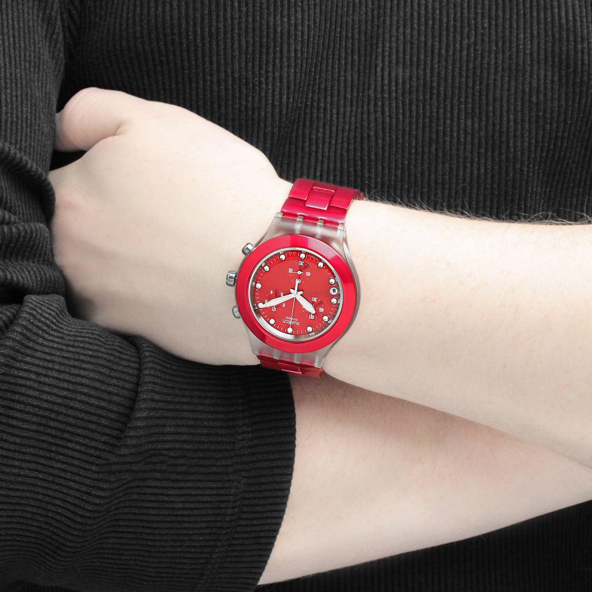 خرید ساعت مچی زنانه سواچ قرمز