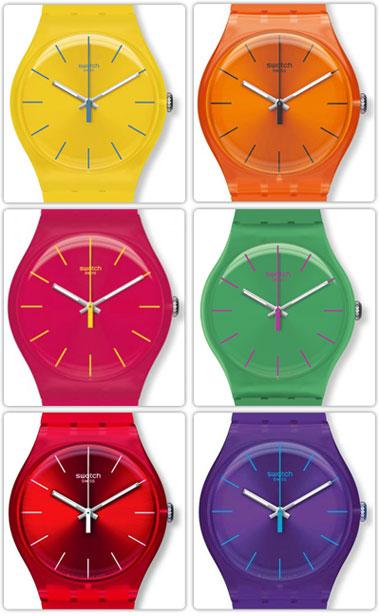 خرید ساعت مچی سواچ رنگی