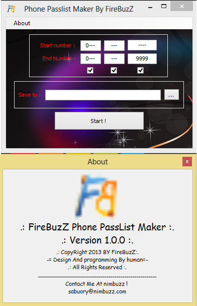 FireBuzZ Phone Pass List Maker Phone_list_maker