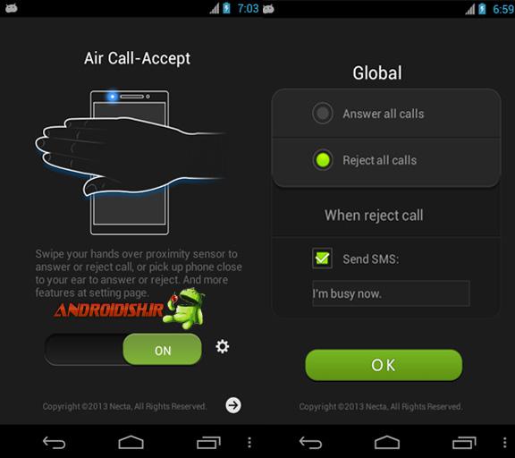 دانلود برنامه کاربردی Air Call-Accept 1.3